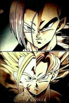 Dragon Ball Z Fan Art ♢ Goku & Gohan & Vegeta & Trunks