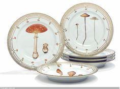 """Flora Danica Fungi"" plates, (6)"