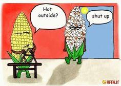 Fa caldo fuori? Taci!! - Vignetta divertente   Uffa.it