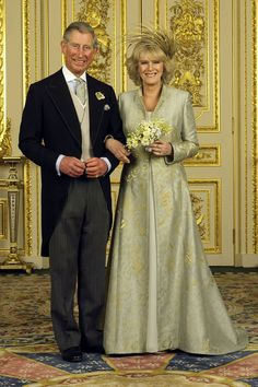 APRIL 2005 - The Prince of Wales marries his second wife Camilla Parker Bowles at Windsor Guildhall, Windsor.