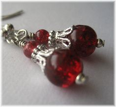 blood red gothic earrings