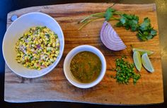 DIY Chipotle Corn Salsa and Lime-Vinaigrette recipe with step-by-step pictures! Chipotle Corn Salsa, Chipotle Bowl, Mild Salsa, Lime Vinaigrette, Salad Recipes, Vegan Recipes, Sauteed Peppers And Onions, Vegan Options, Vegane Rezepte