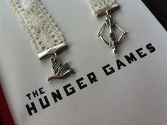 Hunger Games bookmark now in lace! Only $7.50 on Etsy.  Perfect as little gifts!