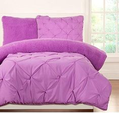 Sale Price : $94.99  Order it Here=> https://diamondhomeusa.com/products/3-piece-kids-teens-full-queen-light-purple-violet-pinched-pleat-comforter-set-fancy-luxury-bedding-french-country-style-modern-pattern-for-master-bedrooms-bright-purple-plum?utm_campaign=outfy_sm_1509854669_950&utm_medium=socialmedia_post&utm_source=pinterest   Kids Teens Full Queen Light Purple Violet Pinched Pleat Comforter Set Fancy Luxury Bedding French Country Modern Pattern Master Bedrooms Bright Purple   Shop…