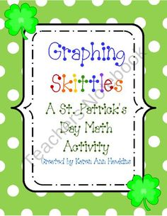 Graphing skittles st patricks day math activity product from