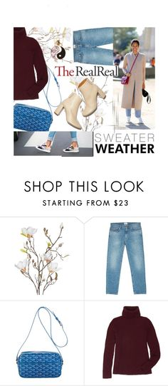 """Fall Style With The RealReal: Contest Entry"" by ashleigh-lauren ❤ liked on Polyvore featuring OKA, Acne Studios, Goyard, STELLA McCARTNEY, The Row and Accessorize"
