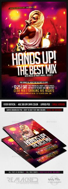 EDM Electro House Music Flyer Template PSD Discover more ideas - benefit flyer templates