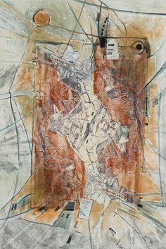 Linde Waber, Zeit im Bild: Randnotizen Istvan, Mischtechnik auf Leinwand, 2018, 180 x 120 cm