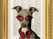Bulldog illustrazione, stampa, pagina dizionario