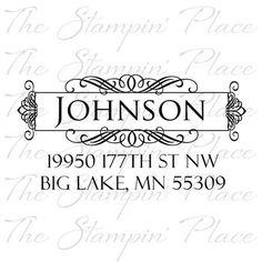 Custom Stamp Place  Custom Return Address Stamp Letter Circle Pr