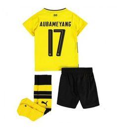 Dortmund Aubameyang 17 Dětské Domácí Dres 17-18 Krátký Rukáv Shinji Kagawa, Lionel Messi, Neymar, Ronaldo, Mario, Trunks, Swimming, Sports, Swimwear