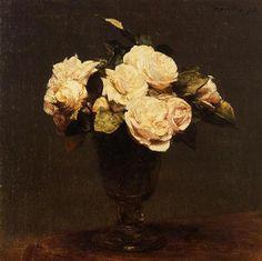 White Roses - Henri Fantin-Latour