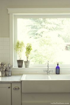 Deep Windows For Growing Herbs In The Fun Lane Kitchen Window Sill