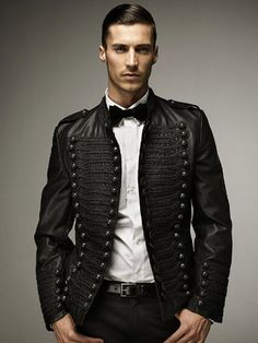 Military style fake leather jacket (Shame it's in PU would have been stunning in leather!)