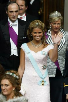Princess Madeleine at the wedding of Crown Prince Frederik and Mary of Denmark in 2004. Photography by Joachim Wall.