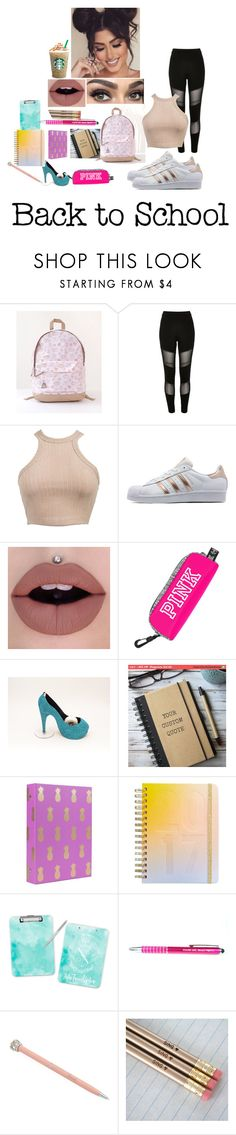 """ugh back to school"" by nikelipstick0223 ❤ liked on Polyvore featuring Pusheen, River Island, adidas Originals, ban.do, Harrods, contestentry and PVxPusheen"