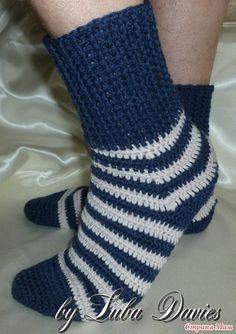 Связать носки можно не только на спицах, но и крючком(!) Предлагаю небольшой мастер-класс для всех желающих. НОСКИ МУЖСКИЕ. РАЗМЕР 42 Материалы: 1.