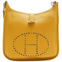 239f81cbc65d HERMES  Evelyn II  Bag in Yellow Togo Grained Leather Hermes Evelyn