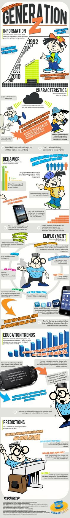 Generation Z   source: http://infographiclist.com/2012/02/28/born-into-tech-generation-z-infographic/?utm_medium=twitter&utm_source=twitterfeed/    #infographic