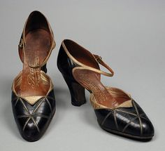 Pair of Womans Sandals André Perugia (France, Nice, Paris, active 1920) France, circa 1928 Costumes; Accessories Leather 9 1/4 x 2 7/8 x 4 1/2 in. (23.49 x 7.3 x 11.43 cm) each From the Collection of Mme. Ganna Walska, gift of Hania P. Tallmadge