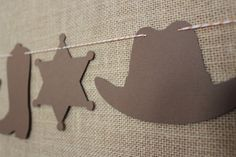 Cowboy Garland // Cowboy Hat Sheriff Badge Cowboy by thecolorloft