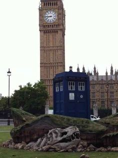 "That's right. A TARDIS... right next to Big Ben. | You Can Now Visit A Crashed ""Doctor Who"" TARDIS On Parliament Square"