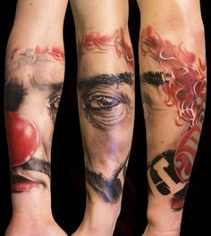 Clown Tattoo.