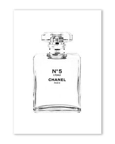 Chanel l'eau Chanel art printed Large Chanel wall art coco