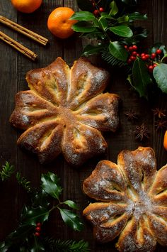 Orange and star anise Christmas snowflake bread (Gibassier) - Domestic Gothess