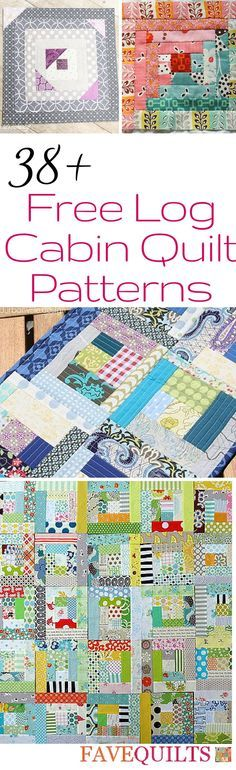 Log cabin quilts are some of my fave traditional quilting patterns!