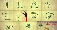 diy paper clip shapes - Google Search