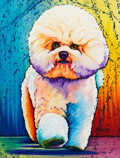 Animals | The Artwork of Steven Schuman Frise Art, The Art Sherpa, Crazy Dog Lady, Arte Pop, Dog Paintings, Watercolor Animals, Dog Art, Animal Drawings, Pet Portraits