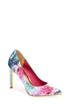 A perfect statement pump to add to a solid dress! :: Spring Fashion:: High Heels:: Bursts of Color Pumps:: Vintage Style