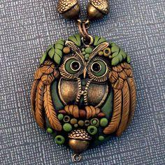 Polymer Clay Owl Pendant by MandarinMoon, via Flickr
