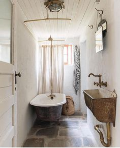 rustic bathroom phot