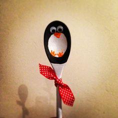 Penguin wooden spoon