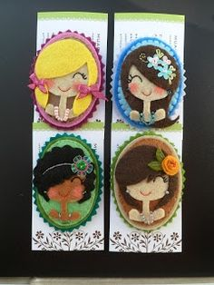 BEAUTIFUL FELT BROOCHES! I'd like to make small world style ones