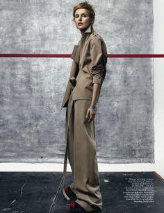 Stella Tennant by Craig McDean for Vogue UK July 2015 - Celine