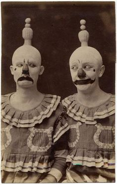 Christ.  Old-timey clowns.