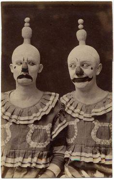 Christ.  Old-timey clowns.