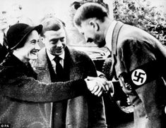 He was angered at being forced to abdicate the throne in 1936 because he wanted to marry American divorcee Wallis Simpson, left, and was willing to work with Hitler, right