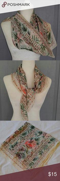 Vintage scarf Floral vintage Accessories Scarves & Wraps