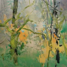 Untitled Autumn Forest, painting by artist Randall David Tipton