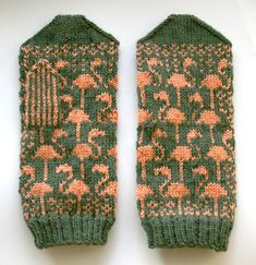 From the Craftster Community: Flamingo Mittens - The Mitten Project - KNITTING