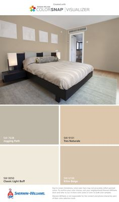 Interior Paint Colors For Living Room, Bedroom Wall Colors, Room Paint Colors, Paint Colors For Home, House Colors, Bedroom Decor, Room Color Schemes, Blue Rooms, Interior Design
