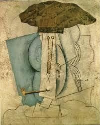 Student with pipe, - Pablo Picasso Cem Yılmaz 1997 Gösterisi Ses Kaydı Part Picasso Collage, Pablo Picasso Artwork, Art Picasso, Picasso Drawing, Picasso Paintings, Synthetic Cubism, Picasso And Braque, Cubist Movement, Trinidad