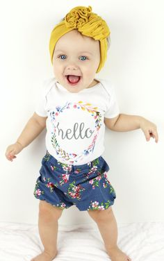 'Hello' Onesie | Trendy Cactus on Etsy