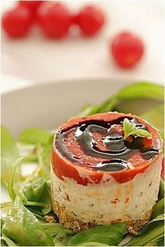 An appetizer eggplant tomato, fresh goat cheese, basil, cream of balsamic vinegar and tuc. Products received from Raynal and Roquelaure – NICOLE PASSIONS Seafood Appetizers, Appetizer Recipes, Snack Recipes, Cooking Recipes, Tapas, Food C, Love Food, Vegan Sandwich Recipes, Easy Vegetarian Lunch