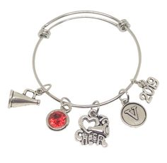 Personalized Cheerleading Bracelets that your Cheerleader will LOVE! Customize with her team colors, initial, date, size and more! Fast Shipping and Group Discounts - gotta love that! Order yours today at TheCheerleadingShop.com