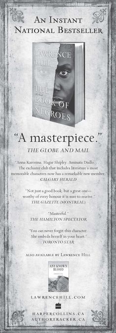 """This ad for """"Instant National Bestseller"""" The Book of Negroes ran in the Globe and Mail"""